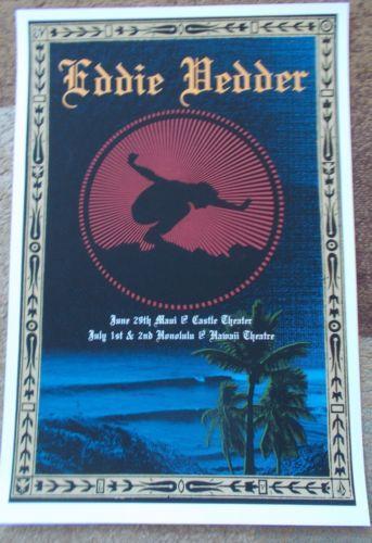 Eddie Vedder Poster Ebay