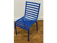 Blue Aluminium Commercial Grade Stacking Outdoor Garden Patio Chairs Bar Bistro