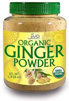 Ground Certified Organic (Organic Natural Ground Ginger Root Powder Container USDA Certified Non-GMO 1LB )