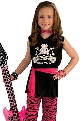 Rock Star Girl Child Economy Costume, - Rock Star Costume Girl