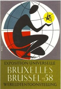 Brussels-Expo-1958-Advertisement-Poster-A3-Reprint