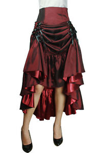 Red-Burlesque-Gothic-Gypsy-Vintage-3-Way-Maiden-Retro-Vamp-Lolita-Skirt-Plus-24