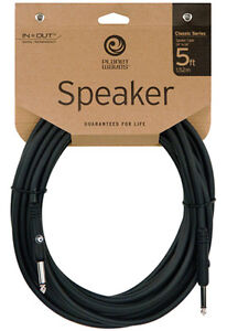 Planet Waves Classic 5 FOOT Speaker Cable..Ideal for Guitar / Bass Amp To Cab