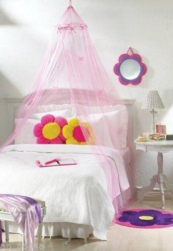 girls twin canopy bed ebay. Black Bedroom Furniture Sets. Home Design Ideas