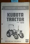 Kubota Owners Manual