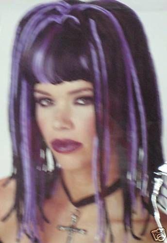 Black And Purple Wig Ebay