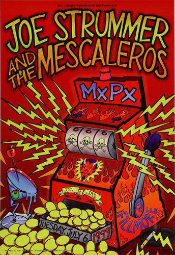 Joe Strummer Mescaleros MxPx 1999 Fillmore SF Poster F377 Chris Shaw Punk Clash