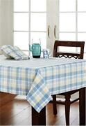 Tablecloth Blue White Check
