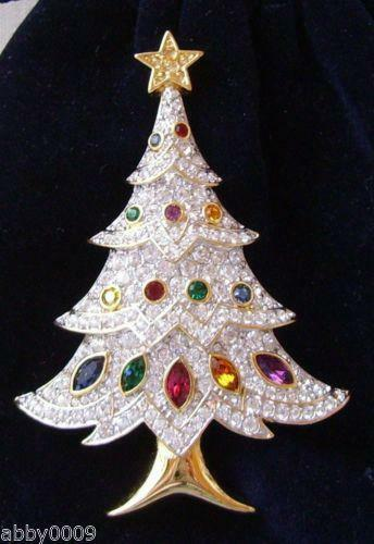 Swarovski Christmas Tree Pin eBay