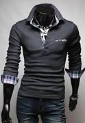 Polo Plaid Shirt Men