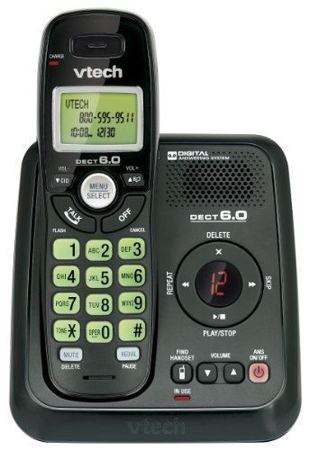 Vtech CS6124-11 Dect 6.0 Cordless Phone w/ Answering System - 1 Handset - Black™