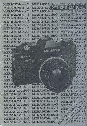 Miranda dx-3 DX3 Instruction Manual Original