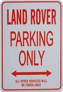 Land Rover Parking Sign