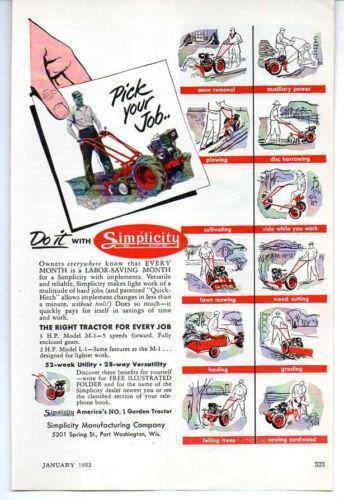 Vintage Simplicity Tractor   eBay