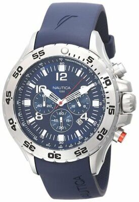 Nautica Men's N14555G NST Stainless Steel Watch with Blue Re