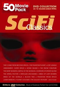 SCI FI CLASSICS 50 MOVIE PACK DVD New Science Fiction