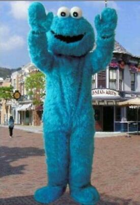 Monster Adult Costumes (Sesame Street Elmo Cookie Monster Adult size Mascot Costume PartyClothing)