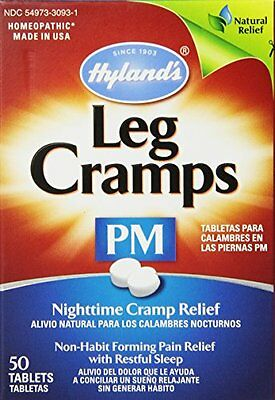 3 Pk Hyland's Leg Cramps PM w-Quinine Homeopathic Nighttime Relief 50 Tablets Ea