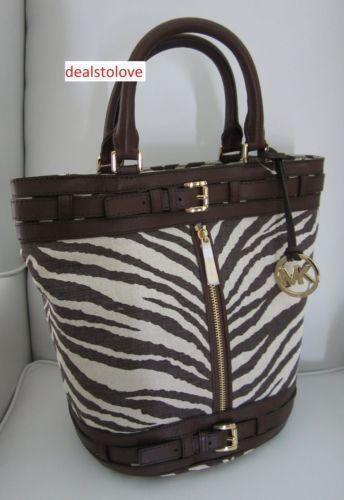 michael kors zebra print handbag ebay