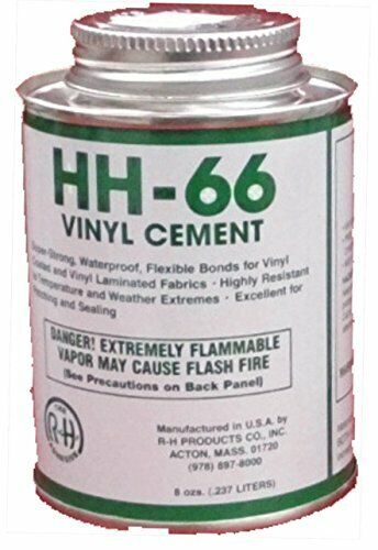 HH-66 PVC Vinyl Cement Glue with Brush 8oz Made In USA