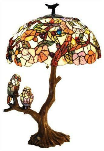Stained Glass Bird Lamp Ebay