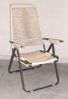 Sedia Sdraio Relax Poltrona Design Lettino Prendisole Ferro -  - ebay.it