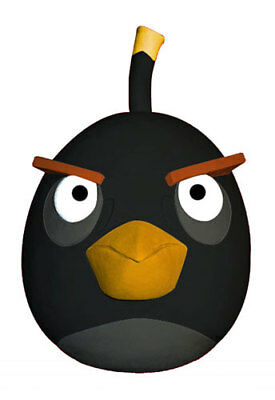 Angry Birds Black Bird Mask Halloween Accessory ()