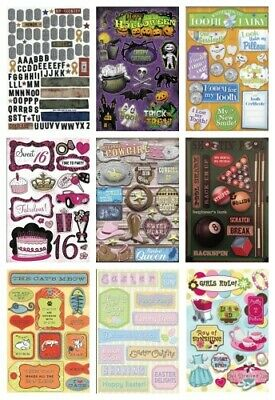 Karen Foster Cardstock STICKERS for Scrapbooking HOLIDAYS SPORTS FAMILY & ABC's - Stickers For Scrapbooking