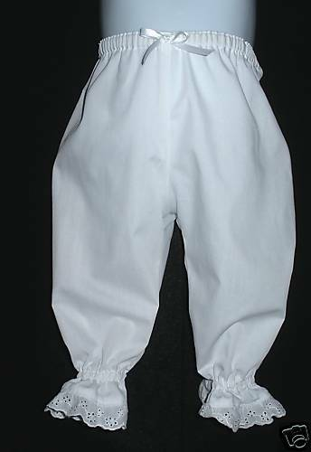Infants Boutique White Bloomers Pantaloons Custom Made