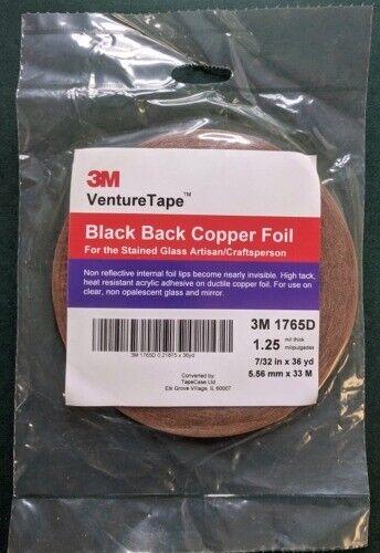 1 Roll 7/32 Venture Black Back Copper Foil - 1.25 mil