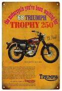 Triumph Motorcycle Sign
