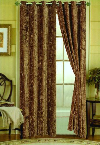 Crushed Velvet Curtains Ebay
