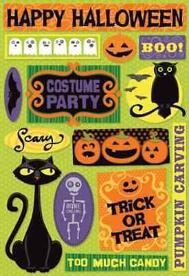 Cardstock Scrapbook Stickers - Halloween Party (Halloween Scrapbook Cardstock)