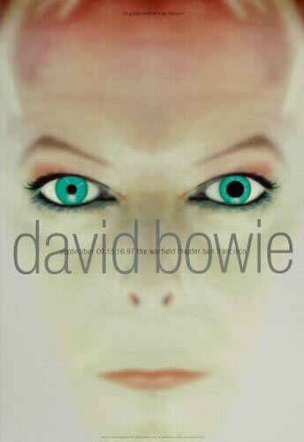 David Bowie 1997 Warfield San Francisco Concert Poster BGP176 Rex Ray