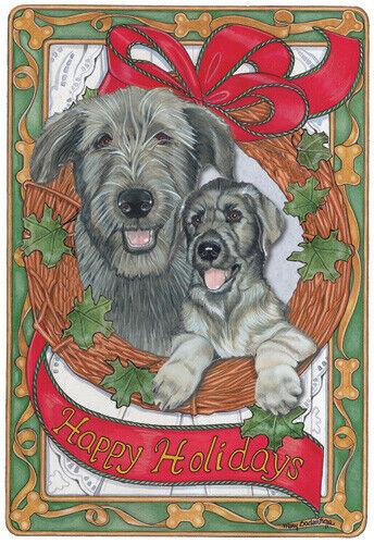 Irish Wolfhound Christmas Cards Set of 10 cards & 10 envelopes