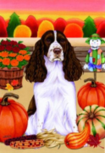 Autumn (TP) House Flag - English Springer Spaniel 67080