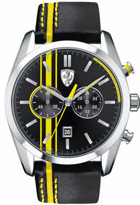 Scuderia Ferrari D 50 Black Yellow Quartz Analog Mens Watch 830235