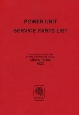 MG C 1968 Parts manual for the engine Publication AKD5102 Catalogue Book Paper