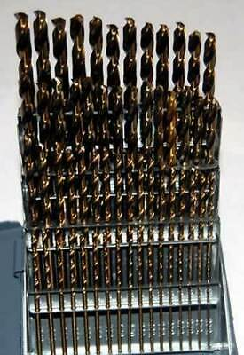60 Pc Drill America No.1 To 60 M42-8 Cobalt Jobber Drill Set Whuot Index