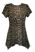 Ladies Leopard Print Tops Size 18