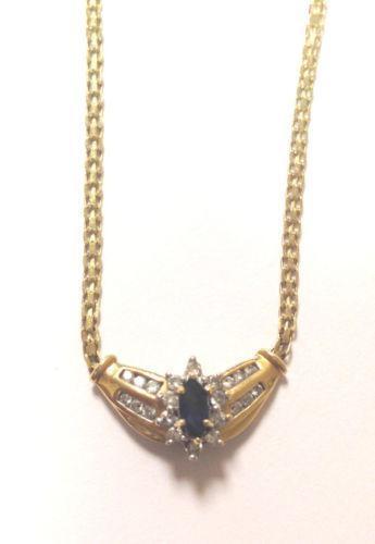 Marquise Diamond Necklace Ebay