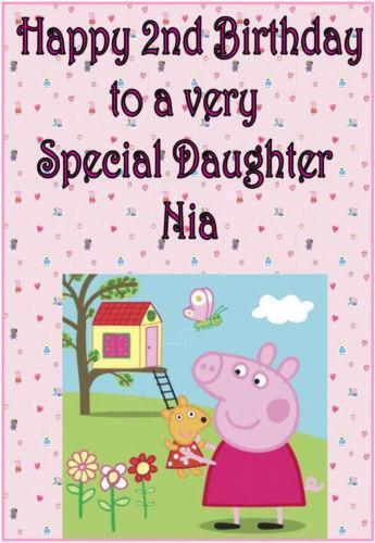 Peppa Pig Birthday Card Ebay
