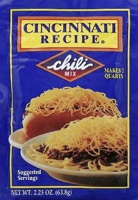 Cincinnati Recipe Chili Seasoning Mix 2.25 oz (3 Pack)