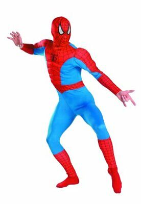 Marvel Spiderman Costume (Adult Disguise Men's Marvel Spider-Man Classic Muscle Costume XL)