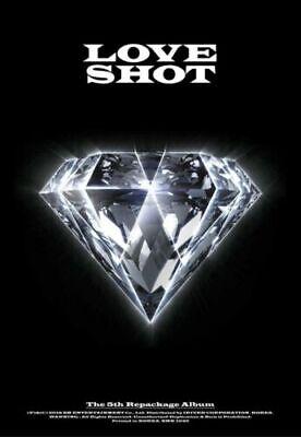 EXO [LOVE SHOT] 5th Repackage Album LOVE VER CD+Photo Book+Photo Card SEALED