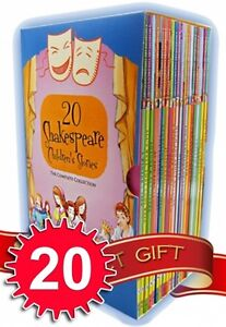 Shakespeare-Childrens-Stories-20-Books-Box-Complete-Collection-Set-Young-Junior
