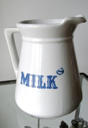 stoneware milk pitcher ebay. Black Bedroom Furniture Sets. Home Design Ideas