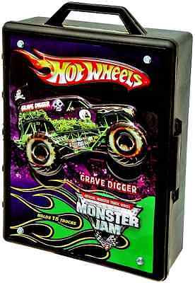 Hot Wheels Monster Jam Truck Carrying Case   Store Your Cars  Storage
