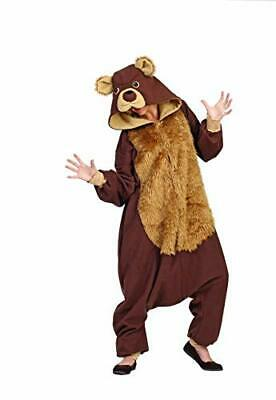 Bear Costume Men (RG Costumes Men's Bailey The Bear Funsie One Size, Brown/Tan)