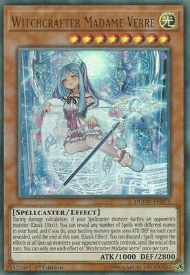 Yugioh Witchcrafter Madame Verre Ultra Rare DUOV 1st Edition Mint